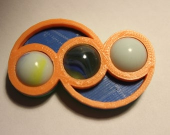 Big Wave Marble 3D printed edc Fidget Spinner. Great for Autism, ADHD, Spd, & Stress. Use at work for long calls and focusing at desk.