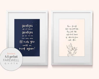 PRINTABLE - Farewell Quotes
