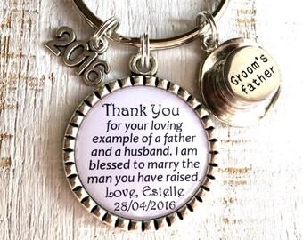 Vater des Bräutigams Geschenk, Vater im Gesetz Geschenk, Schwiegervater Schlüsselanhänger Geschenk Braut an Eltern der Bräutigam Hochzeit Geschenkideen für Eltern