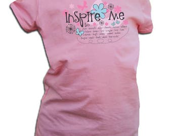 Inspire Me Princess Cut Children's Tee