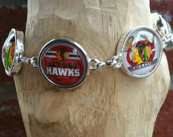 Blackhawks charm bracelet (You'r choice of six images )