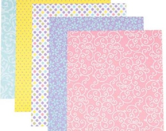 Darice® Patterned 8.5x11 Cardstock Paper Pack - Soft Prints - 25 sheets, 65lb cardstock