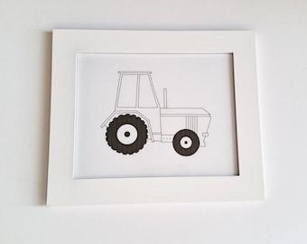 Tractor Art / Tractor Nursery Art / John Deere Nursery / Tractor Print / Baby Boy Nursery Art / Construction Nursery
