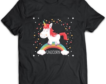 Unicorn T-Shirt. Unicorn tee present. Unicorn tshirt gift idea. - Proudly Made in the USA!