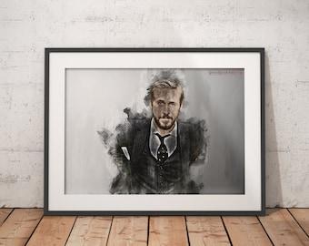 Ryan Gosling print Ryan Gosling Poster wall art home decor