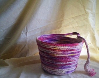 Tutti Fruity hand dyed rope basket