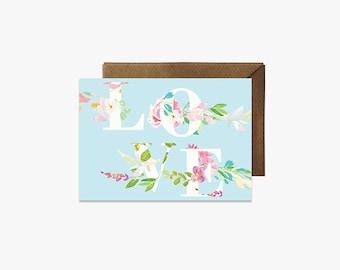 Love Card + Kraft Envelopes --- G008