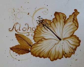 Aloha coffee art