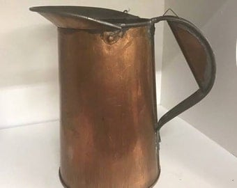 Copper Pitcher  SG Adams Metalware CO.