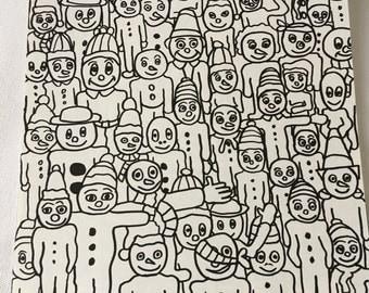 Gingerbread Men Original Drawing