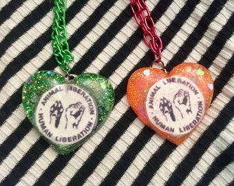 Animal Liberation Heart Necklace