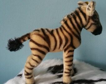 STEIFF zebra! Stuffed animal vintage 1968-1977 sweet cute plush toy collectors item 1420/22