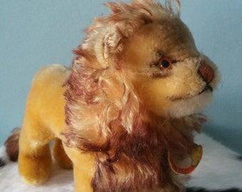 STEIFF lion! Vintage collectible plush toy stuffed animal  LEO presumably 1960s