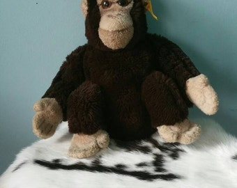 STEIFF gorilla! Vintage collectible plush gorilla monkey 5450/27