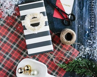 Tartan Plaid Wrapping Paper | Plaid Gift Wrap Lumberjack Birthday Wild One Woodland Baby Shower Rustic Christmas Gift Wrap Buffalo Plaid
