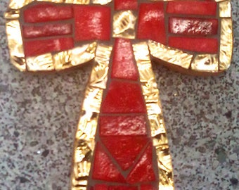 Cross in red and gold