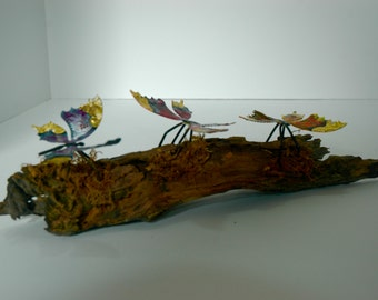Butterfly art//Butterflies on wood//Butterfly decor