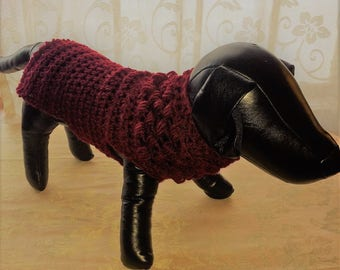 Hand  Crochet Dog Sweater