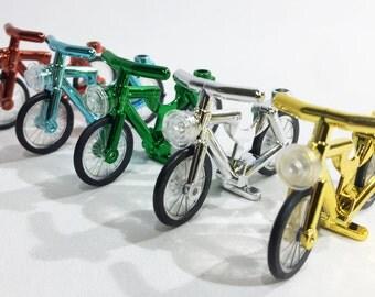 LEGO Party Favor - Set of 5 LEGO Compatible Chrome Bikes