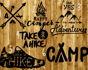 Camp Theme Decals