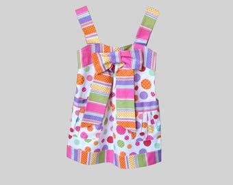 Size 5 Polka Dot Dress, Birthday Dress, Beach Dress, Girls Boutique Dress, and Handmade Dress, Something By Lexi, Little Girls Dress