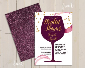 Wine themed bridal shower invitation, wine themed invitation, Winery Wedding Theme, Wine Tasting Party, Printable Wine Tasting Bridal Shower