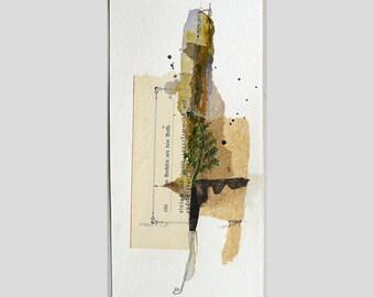 """Recycling art """"composition IX""""(abstrakt,Bild,Hochformat,Collage,Mixed Media,Geschenk,Wanddeko,Naturfarben,Materialmix)"""