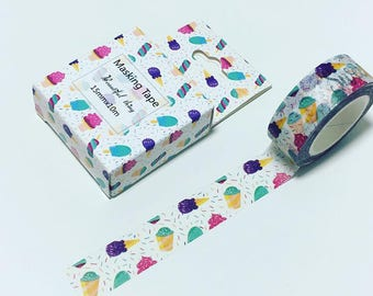 Ice-cream washi tape, icecream washi, ice-cream decorative tape