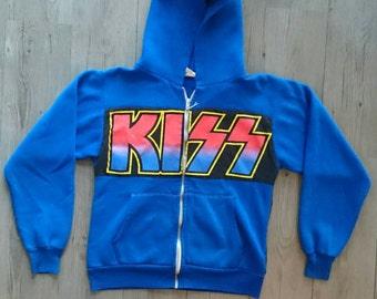 Vintage Kiss hoodie-one of a kind