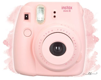 Instax mini 8 camera pink || polaroid pictures decorate your planner