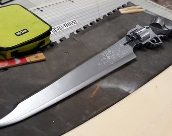 Gunblade Final Fantasy 8 Squall Wooden Replica Sword