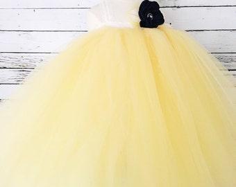 Yellow Cream Tutu Dress
