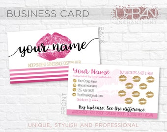 lipsense business cards etsy