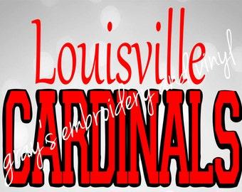 louisville cardinals svg dxf