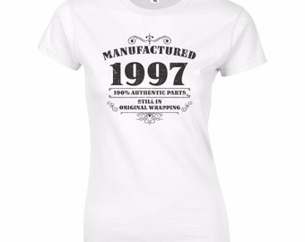 Women's 20th Birthday T Shirt Funny Manufactured 1997 20th Birthday Gifts *GIFT BOXED free of charge!*