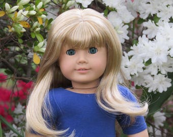 Custom American Girl Doll - Abby - Blond Hair - Blue Green Eyes