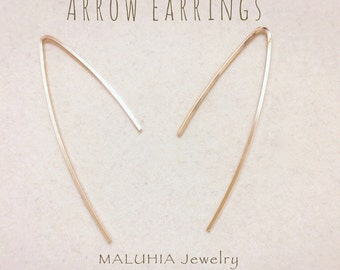 Arrow Earrings (square wire)