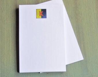 K nautical flag print