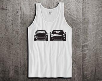 Porsche Tank Top, 911 vintage t shirts, Vintage cars shirts, Old vs New tanks, Porsche 911 t shirts, Unisex Tank tops by Motomotiveink