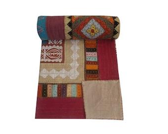 Handmade Ethnic Applique Tribal Bedsheets-Bedcover,designer bedspreads,Gypsy bedding
