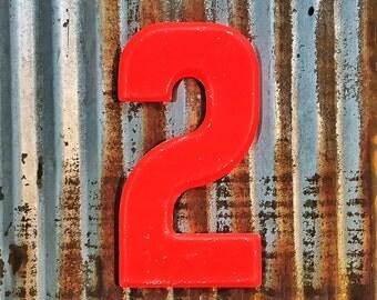 Vintage Metal Marquee Sign Number, Metal Number Two, Industrial Metal Number Two, Sign Number, Industrial Sign Number, Wedding Number