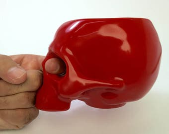 RED SKULL MUG