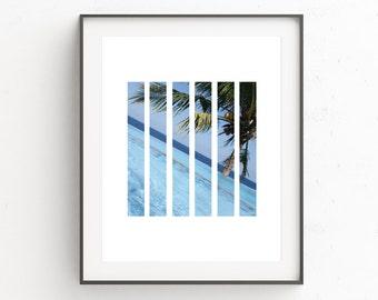 Coastal Wall Print | Seascape Beach Decor | Palm Tree Print