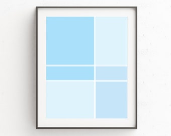 Blue Large Abstract, Entryway Wall Decor, Entryway Art Decor, Poster, Wall Art Print, Art Above Bed, Large Abstract Blue, Minimal Poster Art