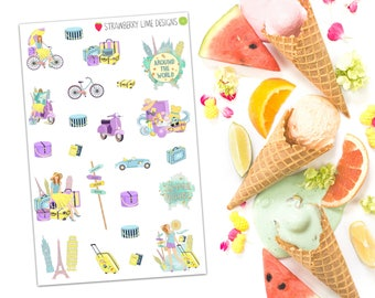 Summer Holiday Decorative Stickers