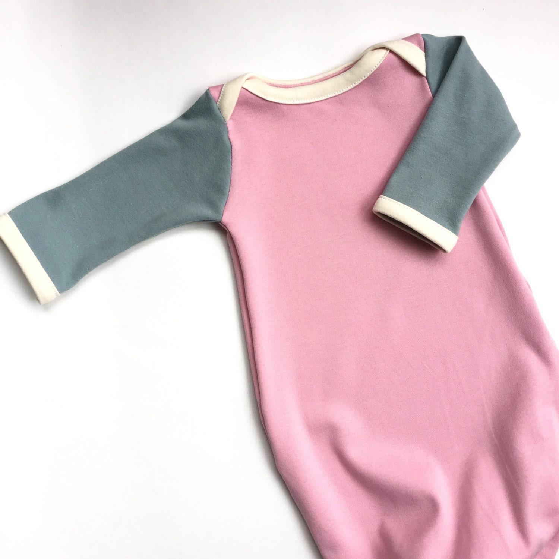 Organic Baby Sleeper Set PETAL baby sleeper, organic newborn gown ...