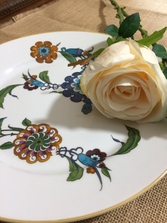 Royal Worcester Palmyra Porcelain Plate - Circa 1970 China Plate Oriental Chinese Style Pattern - Collectible Plates