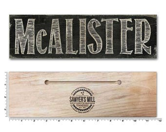 Personalized Wooden Sign, Sawyers Mill Inc
