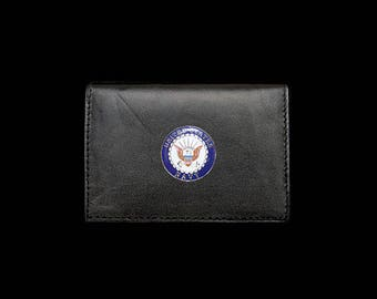 US Navy Business Card Case – 1″ Color