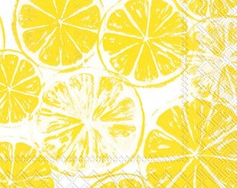 Lemon Slices Luncheon Paper Napkins